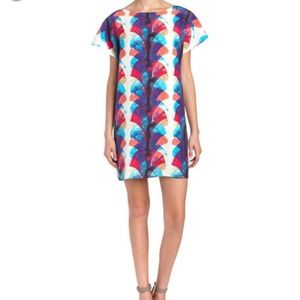 Marie Oliver silk watercolor midi dress
